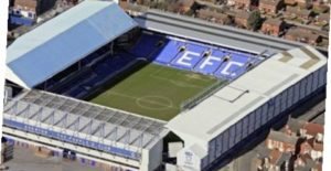 Evertons arena Goodison Park i Liverpool