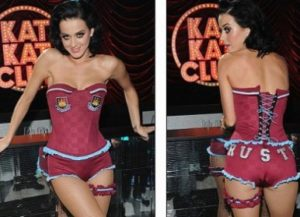 Katy Perry gillar West Ham