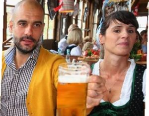 Man City Pep Guardiola med fru