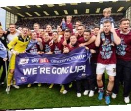 Burnley firar avancemang till Premier League 2016/17